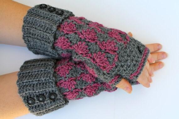 Crochet Fingerless Gloves Pattern Wrist Warmers Fingerless Etsy