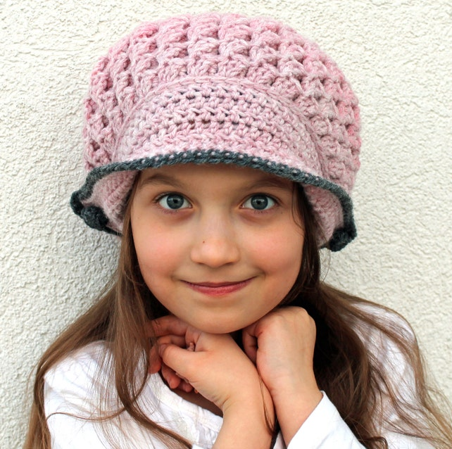 Crochet Newsboy Hat Pattern Bonnie Winter Bonnet Crochet Etsy