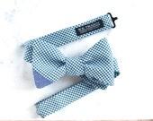 Zach Men's Bowtie - Small gingham plaid bow tie