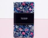 Morris Men's pocket square handkerchief - Floral multi navy pink