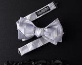 Tari Men's Bow tie - Geo texture multi-smoke blue grey bowtie