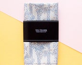 Marcus Men's pocket square handkerchief - Scatter drawing multi grey flax
