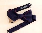 Bruce Men's Bow tie - Plaid navy/brown/red bowtie