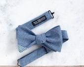 Ray Men's Bowtie - Chambray blue ss15  bow tie