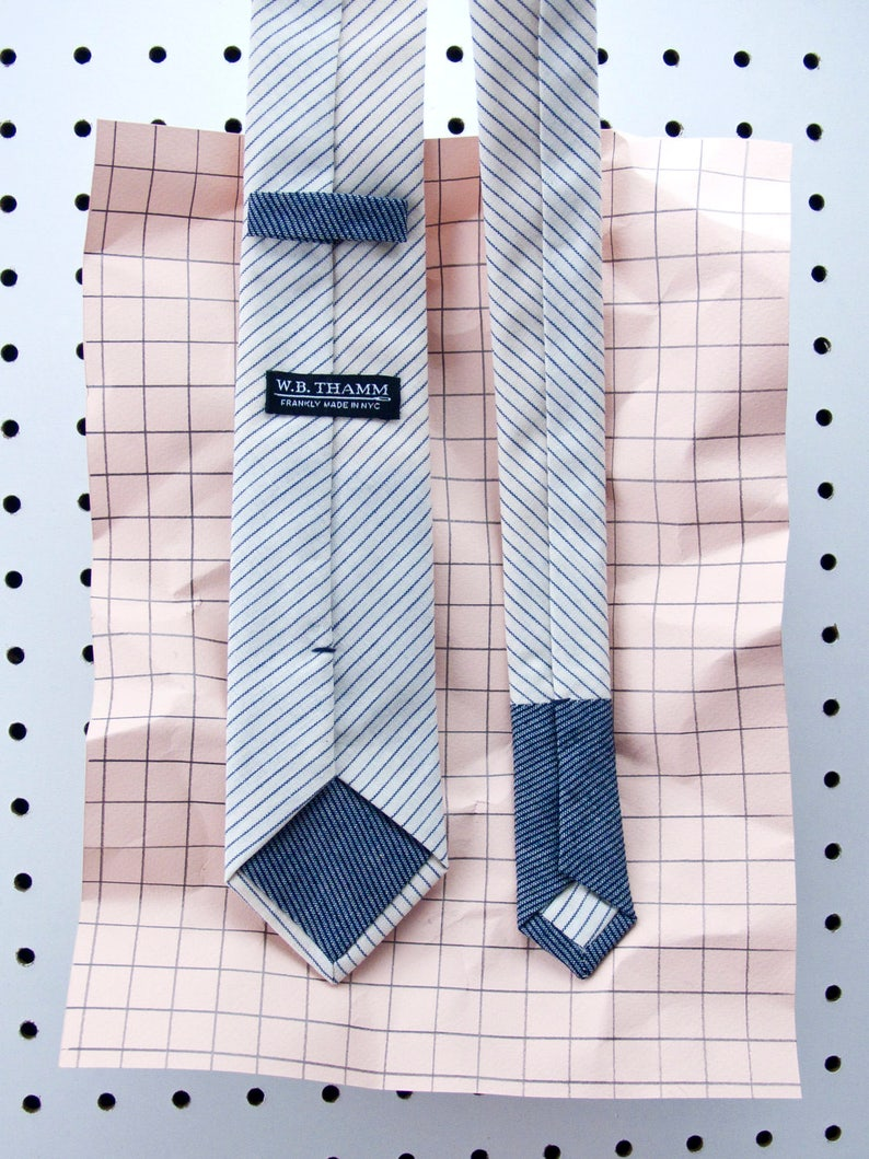 Boyd Men's Skinny Necktie Classic point-end  Railroad image 0