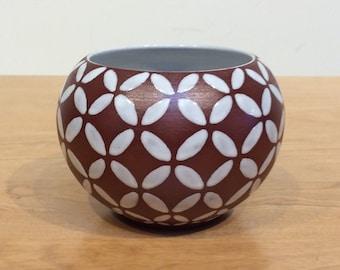 Ioska Denmark Geometric Patterned Vase - Mid Century
