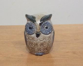 Vintage Mid Century Ceramic Owl Trinket Box