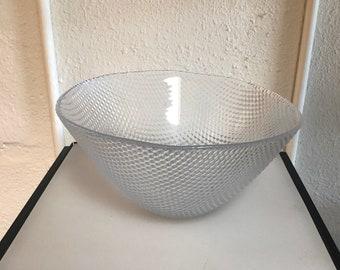 Holmegaard Scandinavian Vintage Mid Century Crystal Limelight Serving Bowl