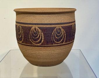 Mid Century Studio Pottery Vase / Planter