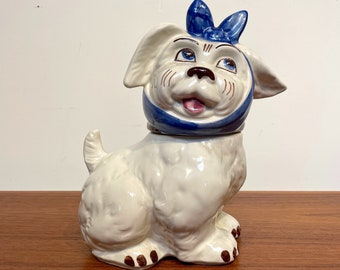 """Vintage  Mugsy Dog - """"Toothache"""" by Shawnee Pottery Cookie Jar Collectible"""