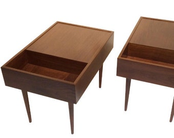 Milo Baughman for Glenn of California End Tables or Nightstands Mid-Century Modern