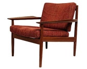 Mid-Century Danish Modern Arne Vodder Teak Lounge Chair