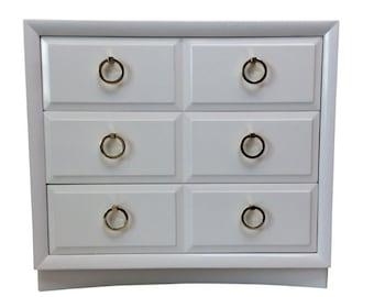 Hollywood Regency White Dresser Dresser by T.H. Robsjohn-Gibbings for Widdicomb