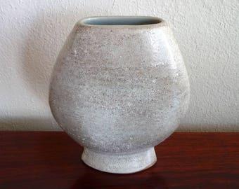 Vintage Japanese Pottery Vase , Midcentury Modern