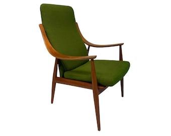 John Stuart High Back Lounge Chair by Peter Hvidt & Orla Mølgaard-Nielsen - Mid-Century