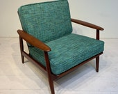 Original Mid-Century Modern Danish Solid Teak Lounge Chair