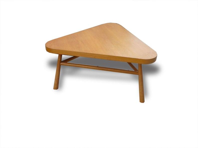 Mid-Century Robsjohn Gibbings Triangle Coffee Table Blonde image 0