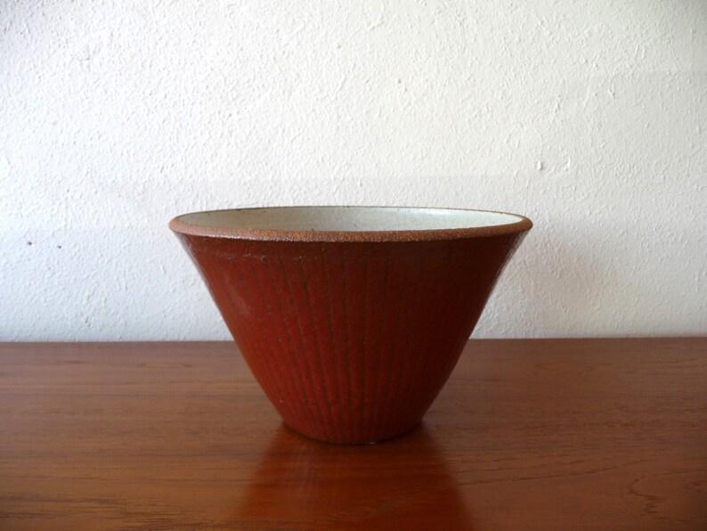 Signed Brent Bennett Pottery Mid Century Modern Earthenware image 0