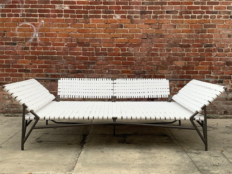 Large Patio Stretch Daybed by Richard Frinier for Brown Jordan image 0