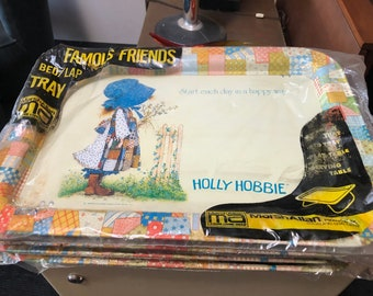 NIP Holly Hobbie Lap Bed Trays Set of (4) - Vintage 1970s
