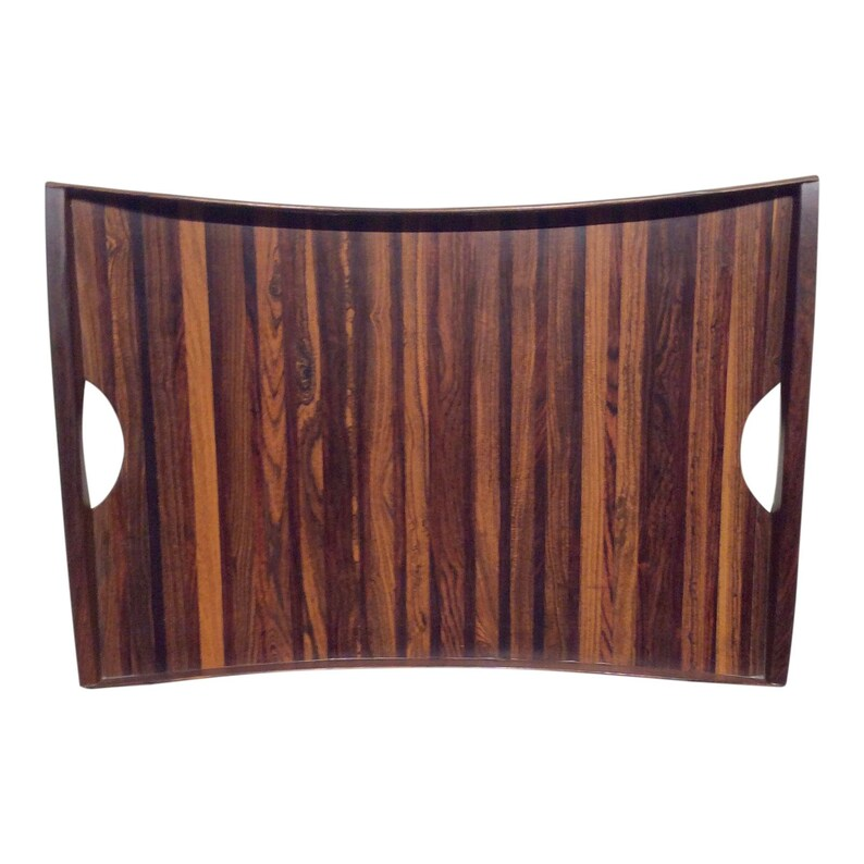Mid-Century Modern Exotic Wood Rosewood Tray by Don Shoemaker image 0