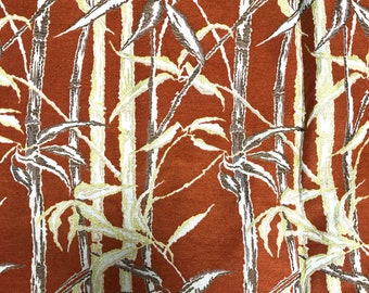 Vintage Tropical Bamboo Print Tapestry Fabric Yardage for Upholstery - Large Piece