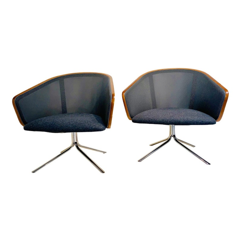 Nest Guest Chairs by Todd Bracher for HBF in Smoke & Charcoal image 0