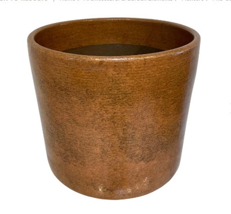 Mid-Century Modern Brown Ochre Gainey Planter image 0