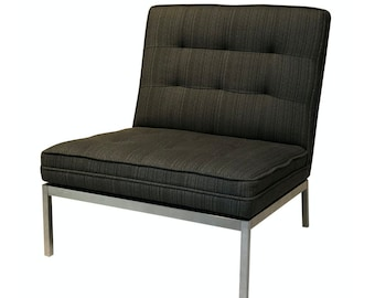 Vintage Florence Knoll Living Room Model 65 Chrome Mid Century Lounge Chair