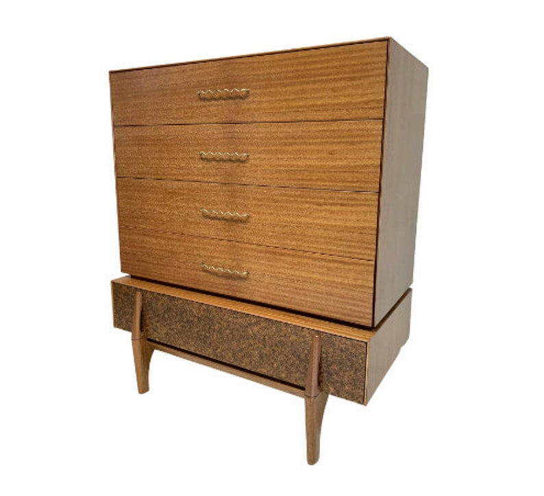 Mid Century Modern Tallboy Chest of Drawers by John Keal for image 0