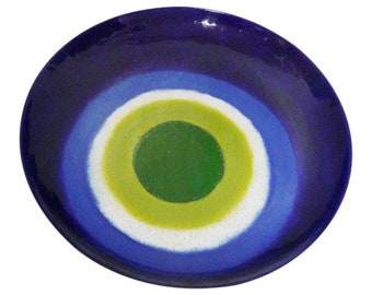 Curtis Jere Turkish Eye Wall Charger Plate Vintage Plate Tray Mid-Century