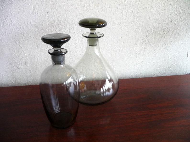 Smokey Purple Holmegaard Decanter w/ Stopper image 0