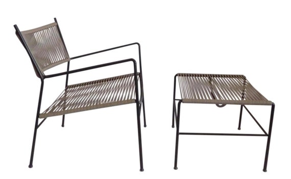 Incredible Outdoor Patio Chair And Ottoman Mid Century Modern Patio Furniture Vintage Outdoor Patio Furniture Dailytribune Chair Design For Home Dailytribuneorg