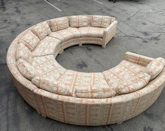 Vintage 1980s Modular Sofa with Upholstery