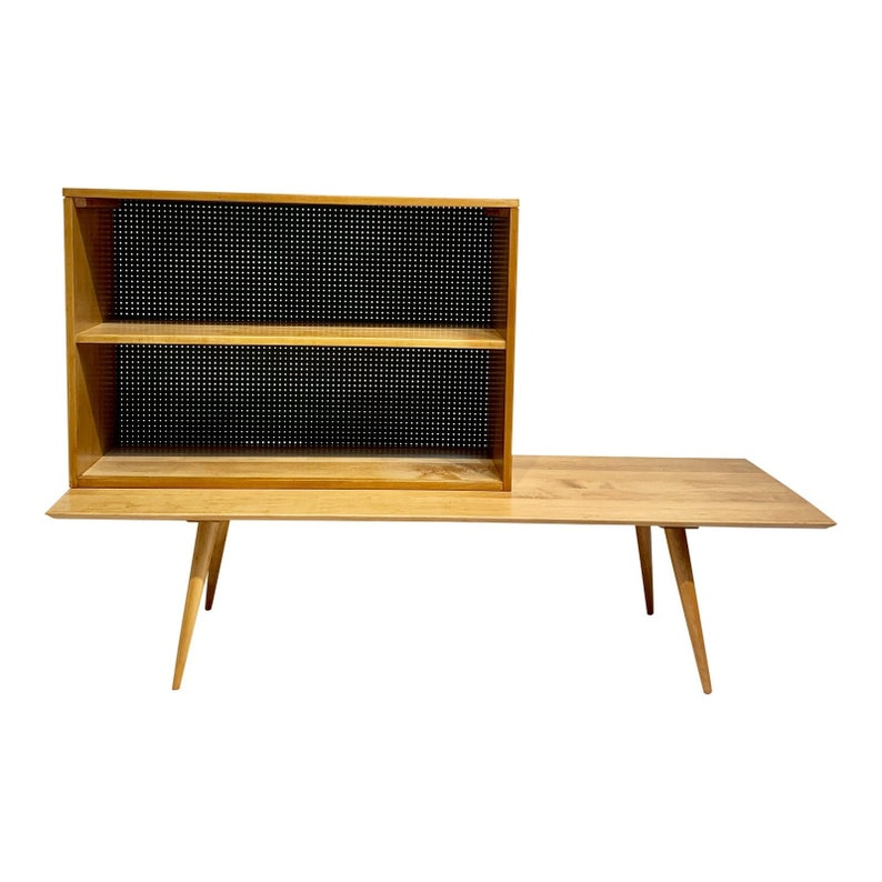 Mid-Century Modern Paul McCobb Planner Group Bench & Bookcase image 0