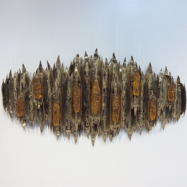 Metal & Acrylic Torch Work Wall Sculpture image 0