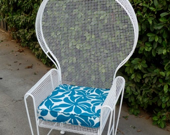 Rare Russell Woodard Patio Chair Outdoor Patio Furniture Cast Iron Chair Mid Century Modern Patio