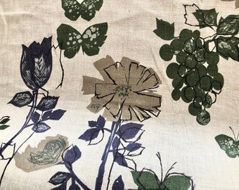 Vintage Linen Fabric Yardage for Upholstery or Drapery - Large Bolt sold by the yard