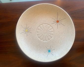 Atomic Low Dish by La Mirada USA Vintage Mid Century