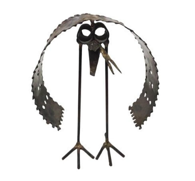 Mid-Century Modern Brutalist Torch Cut Bird Sculpture image 0