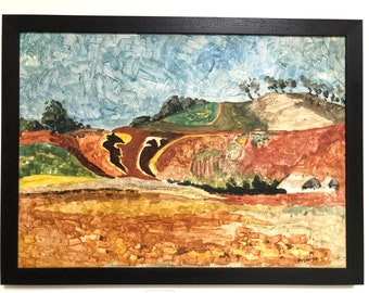 Original Tom Van Sant California Landscape Painting, signed and dated 1958