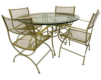 Bob Anderson Restored Vintage Patio Set with Table and 4 Chairs