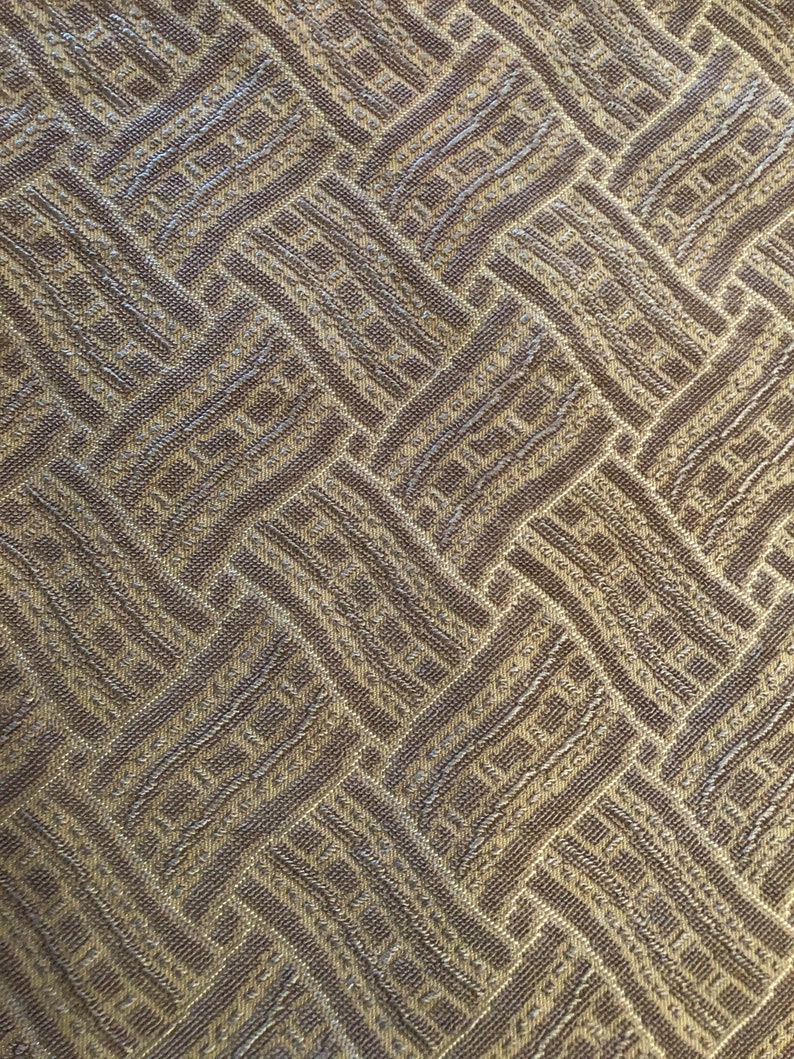 Vintage Frieze Fabric Yardage for Upholstery  Gold /  Tan image 0