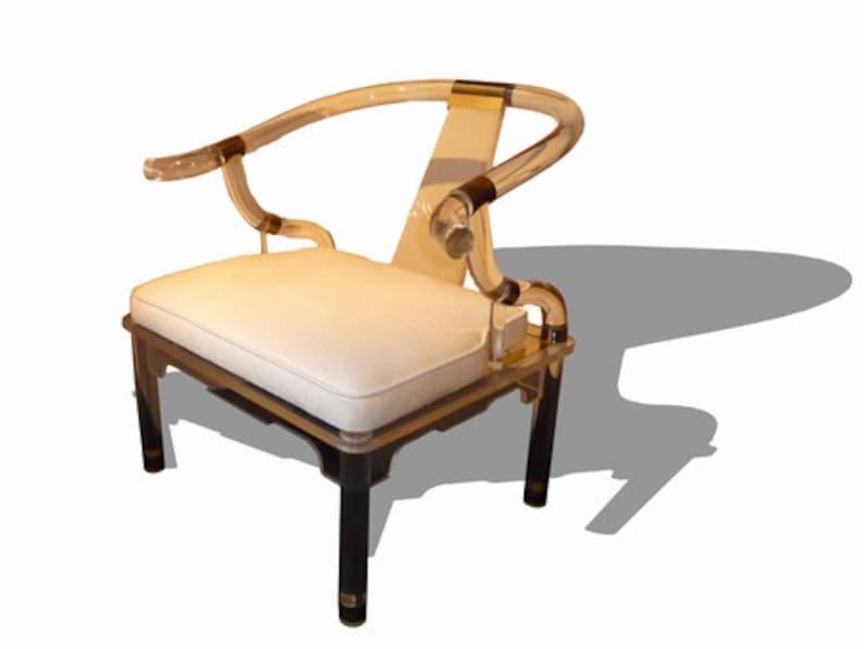 Pair of Charles Hollis Jones Lucite Chairs image 0
