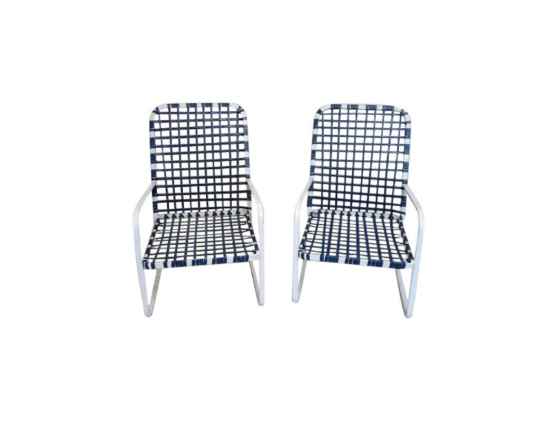 Rare Early Brown Jordan Pair of Patio Chairs image 0