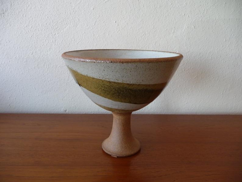 Signed Brent Bennett Pottery Mid Century Modern Pottery image 0