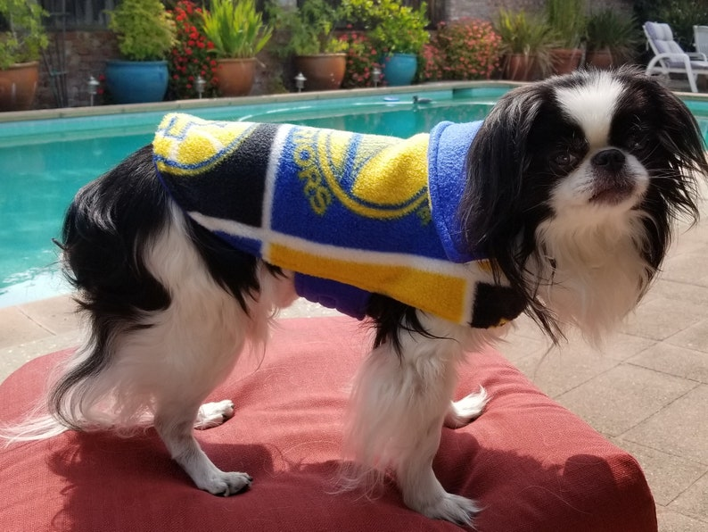 outlet store 246a0 ed432 Golden State Warriors Dog Jacket