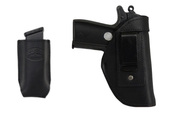 Mag Pouch SIG Walther 380 Ultra Compact New Barsony Brown Leather IWB Holster