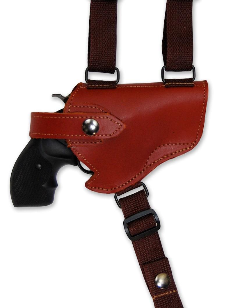 New Burgundy Leather Horizontal Cross Harness Shoulder