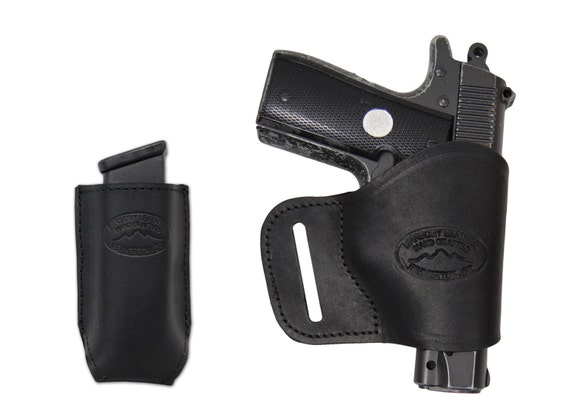 NEW Barsony Brown Leather Single Mag Pouch Colt 380 /& Ultra Compact 9mm 40 45